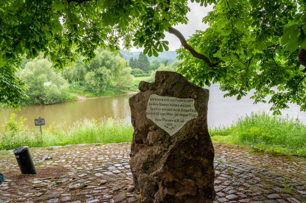 The Weser Stone, marking the start of the Weser river