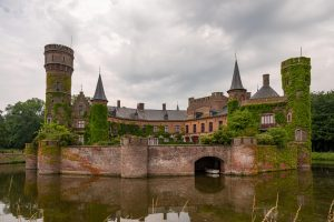 West Flanders' castle in the area of Bruges